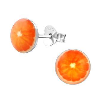 Arancio frutta - 925 Sterling Silver colorati orecchini - W19747X