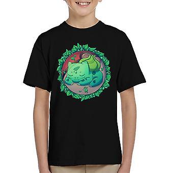Bulbasaur Hidden Grass Ball Pokemon Kid's T-Shirt
