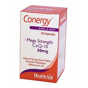 Health Aid Conergy CoQ-10 30mg, 30 Capsules