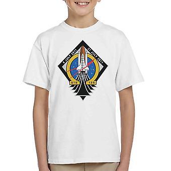 Camiseta de la NASA STS 135 lanzadera de espacio Atlantis misión parche infantil