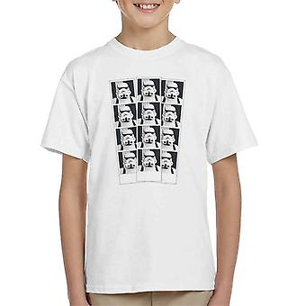 Original Stormtrooper Photo Booth Picture Strip Kid's T-Shirt