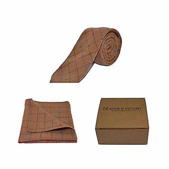 Wyboru rustykalny brąz męskie Tie & placu kieszeni zestaw | Boxed