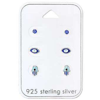Hamsa & Evil Eye - 925 sterlinghopea setit - W30767x