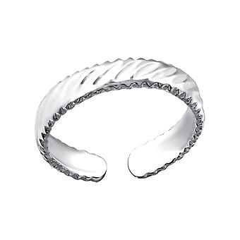 Stripes - 925 Sterling Silver Toe Rings - W23479x