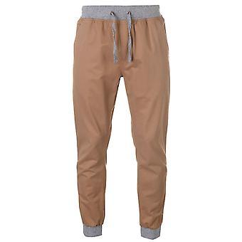 SoulCal Mens com nervuras na cintura Chinos calças calças de elástico no tornozelo