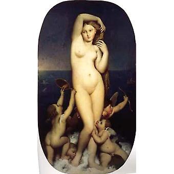 The Birth of Venus, Jean Auguste Dominique Ingres, 80x40cm