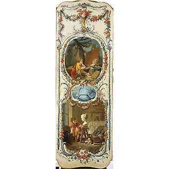 The Arts and Sciences,Francois Boucher,80x40cm