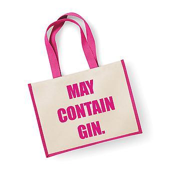 Velký jutový sáček může obsahovat gin-růžový sáček
