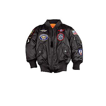 Alpha industries kids bomber jacket MA-1 patch