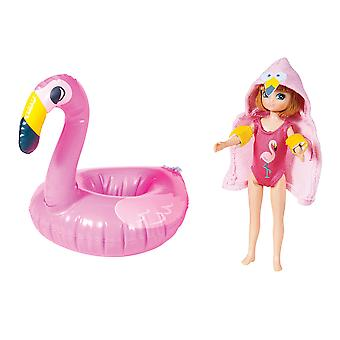 Lottie Doll Pool Party Figure with Outfit Accessories Set and Hair