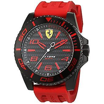 Scuderia Ferrari 0830308 cuarzo, clásico esfera analógica y correa de silicona