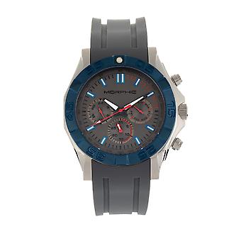 Morphic M75 serien Tachymeter Strap Watch w/dag/datum-Silver/grå