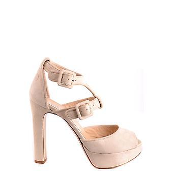 Sandálias de camurça bege De Camurça Bege