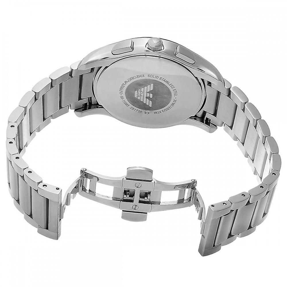 Emporio Armani Mens Gents chronographe noir visage Wrist Watch AR11083