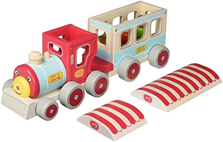 Indigo Jamm Sammy Steam Train - Complete With 3 Removable Wooden Passengers & A Train Driver
