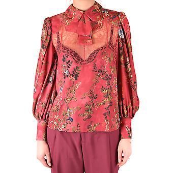 Elisabetta Franchi Ezbc050177 Damen's Rote Polyester Bluse
