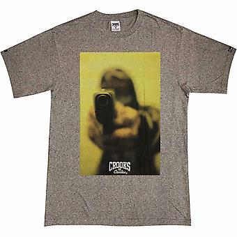 Bandidos & castelos cair t-shirt do salpico preto