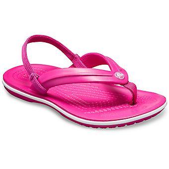 Crocs Girls Crocband Lightweight Comfy Ankle Strap Flipflops