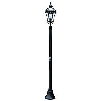 Stead-1 Light Lamp Post-Black Finish-GZH/LB5