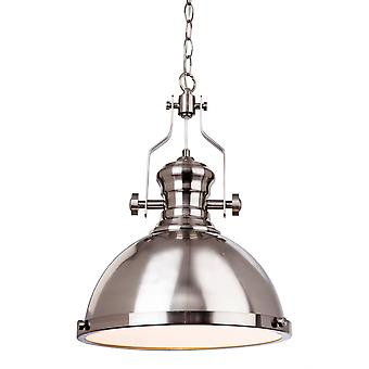 Erstlicht-1 Light Ceiling Pendant Brushed Steel-5909BS