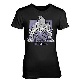 Γυναίκες ' s Ντίσνεϋ Ούρσουλα τοποθετηθεί μαύρο T-shirt