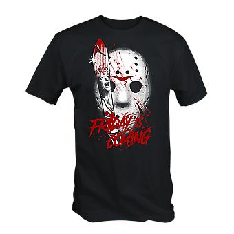 Friday is coming t-shirt horror the 13th jason hockey mask
