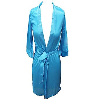 Mode plain korte kvinder brude brudepige kimono Robe satin kjole