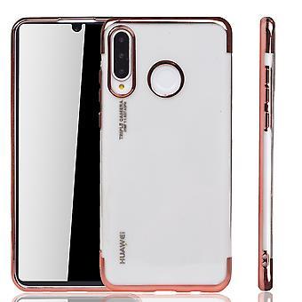 Handyhülle für Huawei P30 Lite Rose Pink - Clear - TPU Silikon Case Backcover Schutzhülle in Transparent   Rose Pink