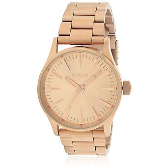 Nixon Sentry 38 Rose Gold-Tone Stainless Steel Unisex Watch A450897