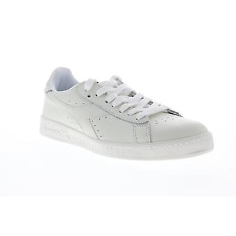 Diadora Game L Low  Mens White Leather Casual Low Top Sneakers Shoes