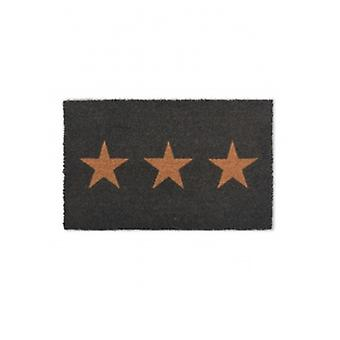 Garden Trading Coir Charcoal Star Doormat | Gifts From Handpicked
