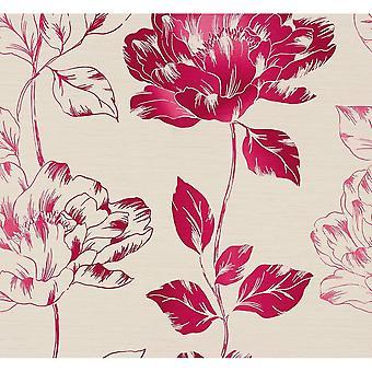 A.S. criação como criação Pure floral padrão flor folha motivo textured Vinyl wallpaper 958813