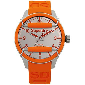 Superdry Scuba Solar Watch for Japanese Quartz Analog Man with SYG125O Rubber Bracelet