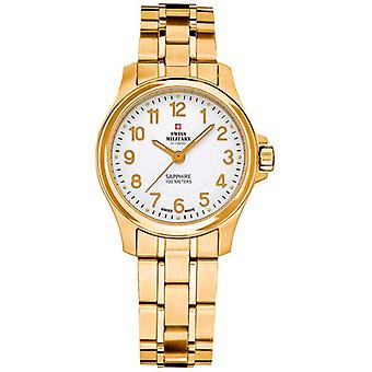 Swiss Military Quartz Analog Woman Watch with SM30138.05 Gold-Plated Stainless Steel Bracelet