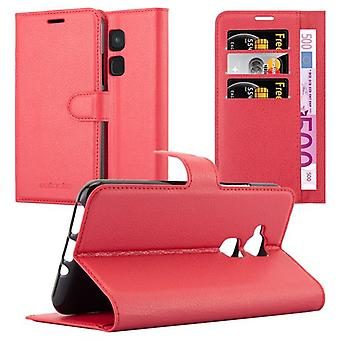 Cadorabo Case for BQ Aquaris V / Vs Plus case cover - Mobile phone case with magnetic clasp, stand function and card compartment – Case Cover Protective Case Case Book Folding Style