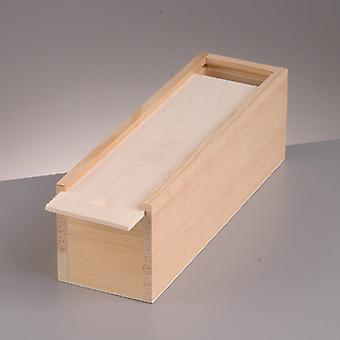 20cm Small Pine Wooden Pencil Box with Sliding Lid   Wooden Boxes for Crafts