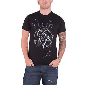 HIM T Shirt Black Heartagram Crows Anarchy band logo Official Mens