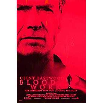 Blod arbete (dubbelsidig regelbunden) original Cinema affisch
