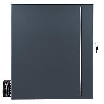 """MOCAVI caixa 144 purista """"Letterbox"""" com compartimento escondido de cinza de jornal antracite (RAL 7016) com design de aço inoxidável"""