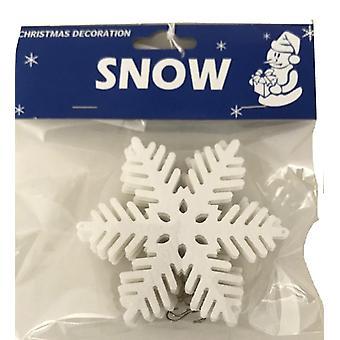 Flocos de neve bonitos com o natal do gancho 6-bloco 10 cm