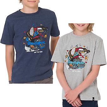 Animal Boys Bosso Graphic Chest Print Short Sleeve Crew Neck Tee Top T-shirt