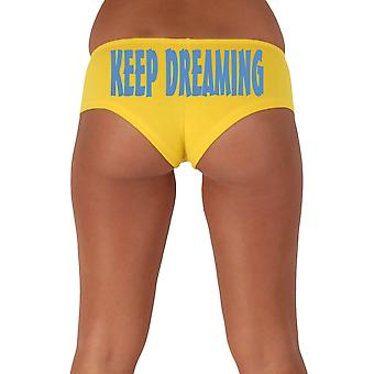 Women's Blue Keep Dreaming 2 Booty Shorts