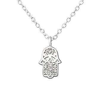 Hamsa - en argent Sterling 925 empierré colliers - W38278X