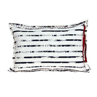 Nautical White and Blue Stripe Pillow Cover