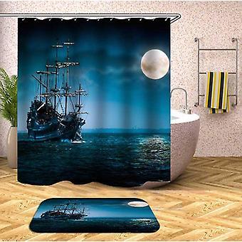 Schattierungen von blauen Schiff Duschvorhang