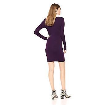 Lyss Loo Women's Comeback Baby Long Sleeve Body-Con Mini, Purple, Large