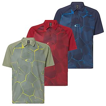 Oakley Mens Mirror Graphic Lightweight Golf Polo Shirt