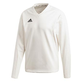 Adidas Long Sleeve Mens Cricket weißen Pullover Sweatshirt Pullover White