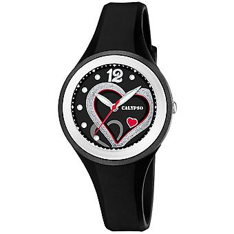 Calypso watch watches K5751-4 - watch Silicone black woman