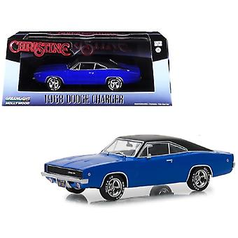 1968 Dodge Charger (Dennis Guilder-apos;s) Blue with Black Top Christine (1983) Movie 1/43 Diecast Model Car par Greenlight
